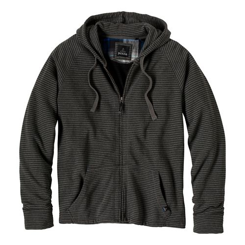 Mens Prana Kennet Full Zip Outerwear Jackets - Charcoal XXL