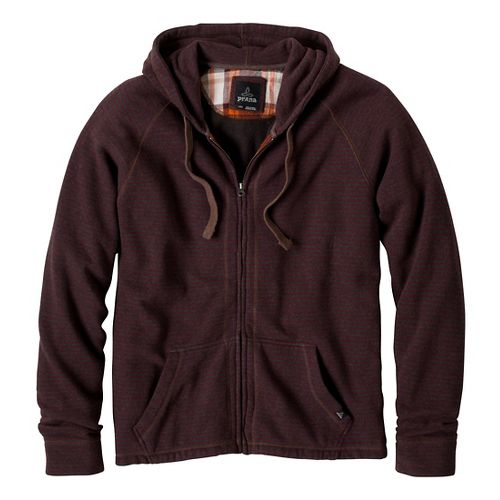 Mens Prana Kennet Full Zip Outerwear Jackets - Mahogany L