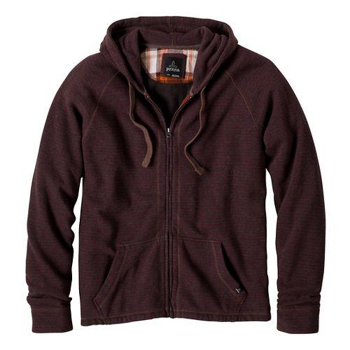 Mens Prana Kennet Full Zip Outerwear Jackets - Mahogany XL