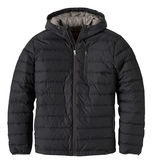 Mens prAna Lasser Cold Weather Jackets - Charcoal S
