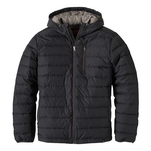 Mens prAna Lasser Cold Weather Jackets - Charcoal L