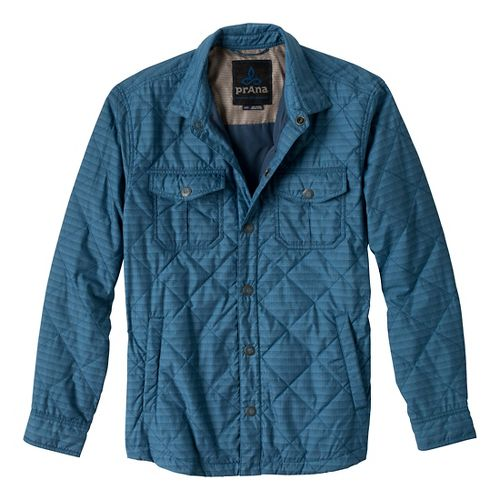 Mens Prana Murphy Shirt Outerwear Jackets - Blue Ash M