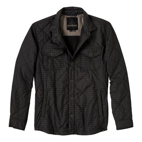 Mens Prana Murphy Shirt Outerwear Jackets - Charcoal L