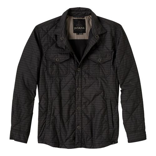 Mens Prana Murphy Shirt Outerwear Jackets - Charcoal S