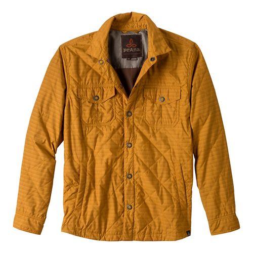 Mens Prana Murphy Shirt Outerwear Jackets - Sahara L