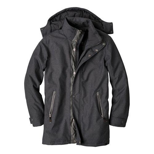 Mens Prana Oberlin Outerwear Jackets - Black Heather L