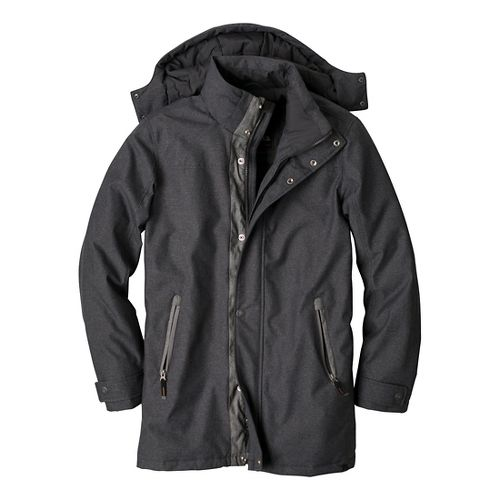 Mens Prana Oberlin Outerwear Jackets - Black Heather M