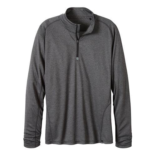 Mens prAna Orion 1/4 Zip Hoodie & Sweatshirts Technical Tops - Charcoal XL