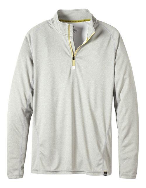Mens prAna Orion 1/4 Zip Hoodie & Sweatshirts Technical Tops - Silver M