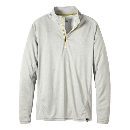 Mens prAna Orion 1/4 Zip Hoodie & Sweatshirts Technical Tops - Silver M