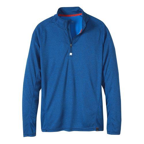 Mens prAna Orion 1/4 Zip Hoodie & Sweatshirts Technical Tops - Blue Ridge XL