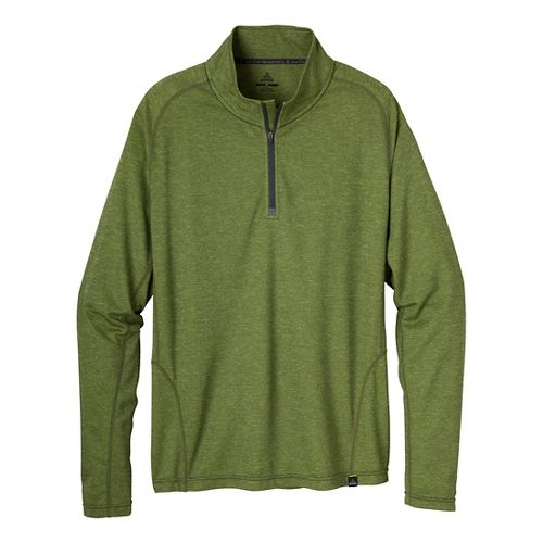 Mens Prana Orion 1/4 Zip Long Sleeve 1/2 Zip Technical Tops - Pewter M