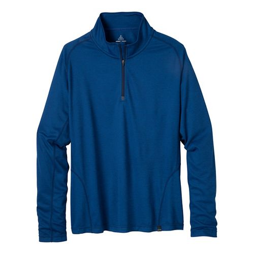 Mens Prana Orion Long Sleeve 1/2 Zip Technical Tops - Pure Blue L