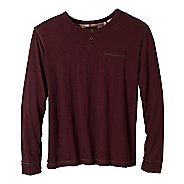 Mens Prana Outlook Crew Long Sleeve Non-Technical Tops