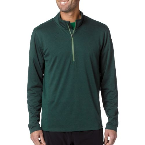 Mens Prana Porter Long Sleeve 1/2 Zip Technical Tops - Pine Needle S