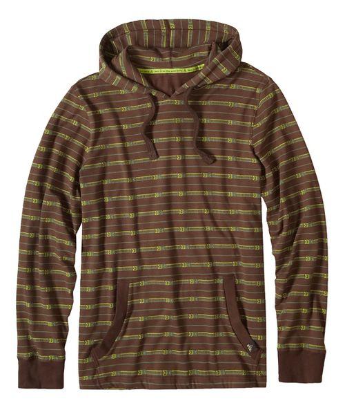 Mens prAna Setu Half-Zips & Hoodies Non-Technical Tops - Grey/Grey XL