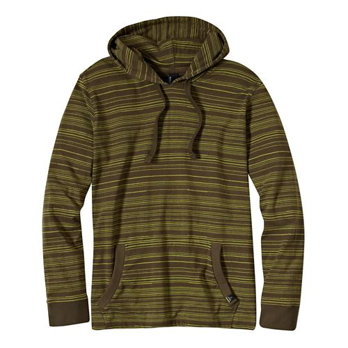 Mens Prana Setu Hoodie Long Sleeve Non-Technical Tops - Cargo Green L