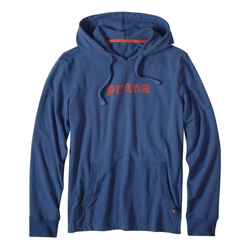 Mens prAna Setu Half-Zips & Hoodies Non-Technical Tops - Blue Ridge S