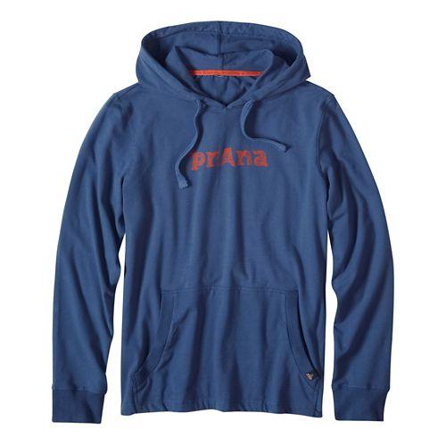 Mens prAna Setu Half-Zips & Hoodies Non-Technical Tops - Blue Ridge XL