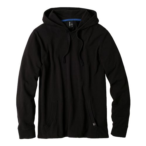Mens Prana Setu Hoodie Long Sleeve Non-Technical Tops - Black M