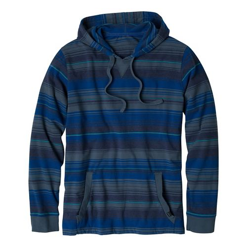 Mens Prana Setu Hoodie Long Sleeve Non-Technical Tops - Blue Yonder XXL