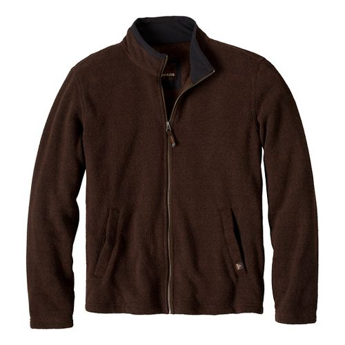 Mens Prana Sherpa Full Zip Outerwear Jackets - Brown L