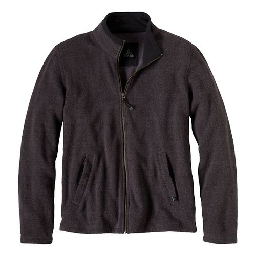 Mens Prana Sherpa Full Zip Outerwear Jackets - Coal XL
