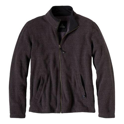Mens Prana Sherpa Full Zip Outerwear Jackets - Coal XXL