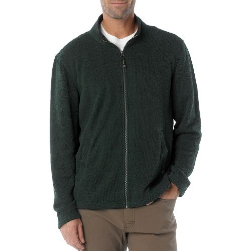 Mens Prana Sherpa Full Zip Outerwear Jackets - Pine Needle S