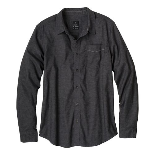 Mens Prana Sutra Slim Long Sleeve Non-Technical Tops - Black L