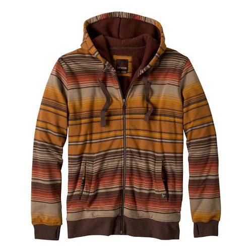 Mens Prana Tollak Full Zip Warm-Up Unhooded Jackets - Barnwood M