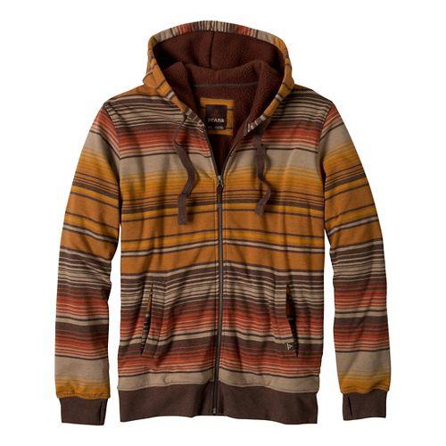 Mens Prana Tollak Full Zip Warm-Up Unhooded Jackets - Barnwood XL