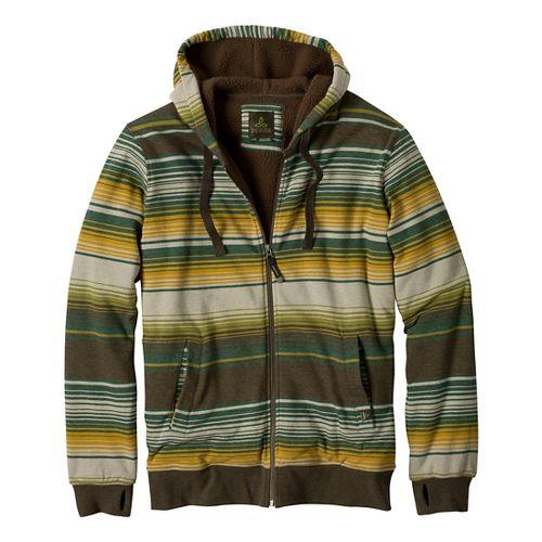 Mens Prana Tollak Full Zip Warm-Up Unhooded Jackets - Cargo Green M