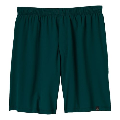 Mens Prana Logan Unlined Shorts - Deep Teal L