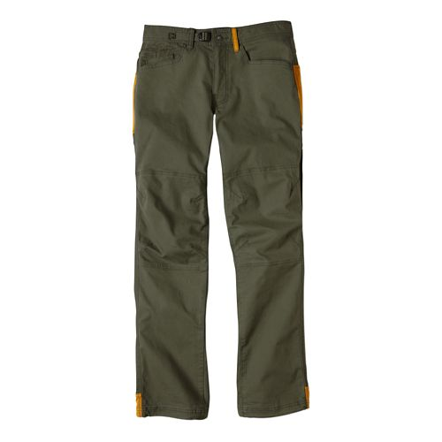 Mens Prana Continuum Full Length Pants - Cargo Green 36