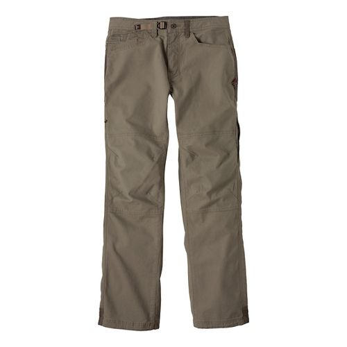 Mens Prana Continuum Full Length Pants - Dark Khaki 28