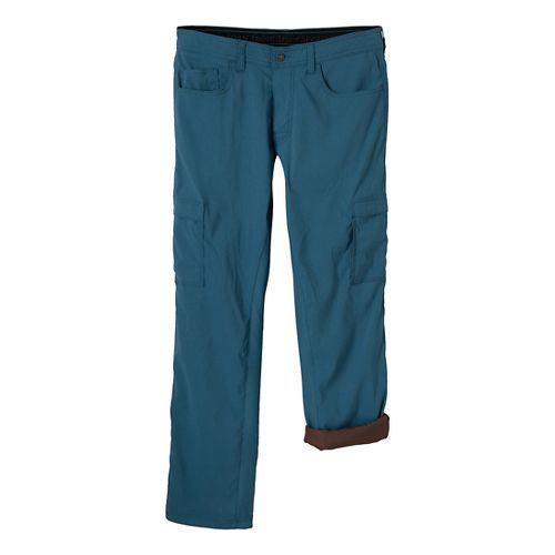 Mens Prana Stretch Zion Lined Full Length Pants - Blue Jean 36