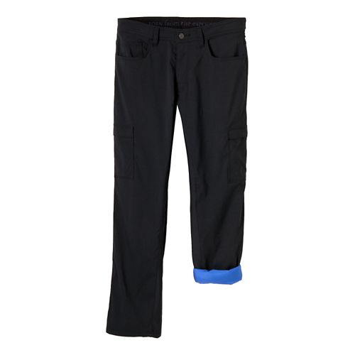 Mens Prana Stretch Zion Lined Full Length Pants - Black 36