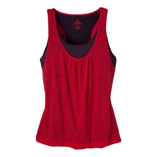Womens Prana Mika Top Sleeveless Technical Tops - Pink Berry XS