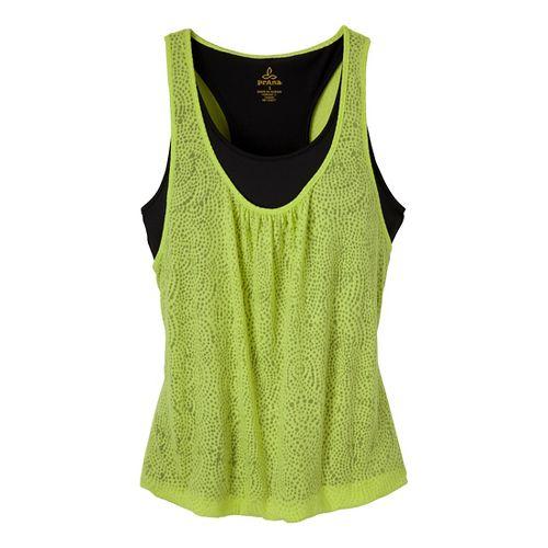 Womens Prana Mika Top Sleeveless Technical Tops - Wild Lime XS