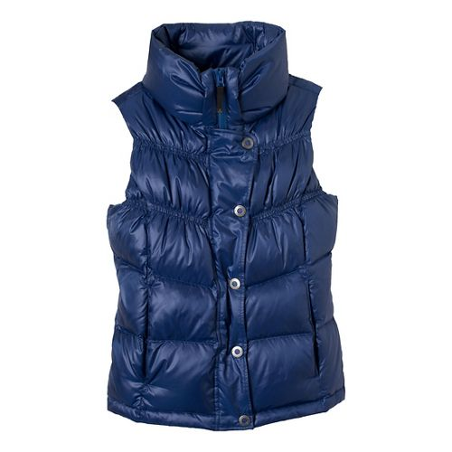 Womens Prana Milly Down Vests - Blue Twilight L
