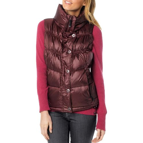 Womens Prana Milly Down Vests - Mahogany XS