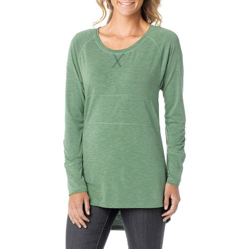 Womens Prana Ada Long Sleeve Non-Technical Tops - Deep Jade M