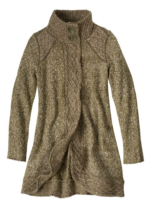 Womens prAna Angelica Duster Cold Weather Jackets - Cargo Green M