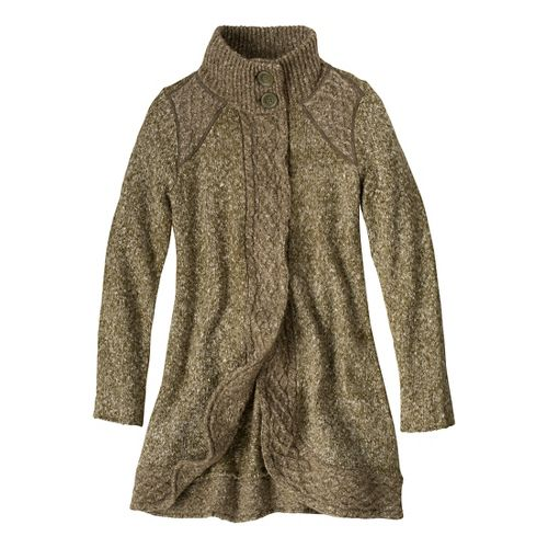 Womens Prana Angelica Duster Outerwear Jackets - Cargo Green XS