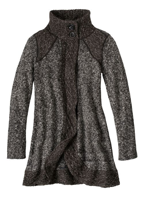 Womens prAna Angelica Duster Cold Weather Jackets - Coal S
