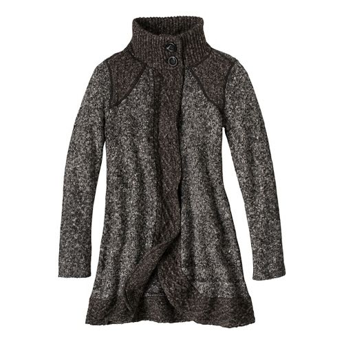 Womens prAna Angelica Duster Cold Weather Jackets - Coal L