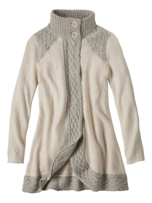 Womens prAna Angelica Duster Cold Weather Jackets - Brown XL