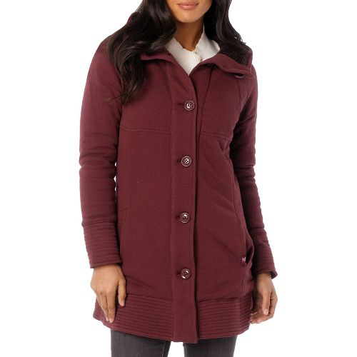 Womens Prana Bette Outerwear Jackets - Mahogany XL