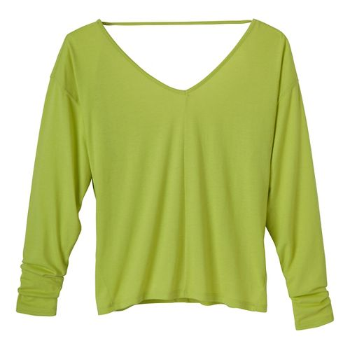 Womens Prana Bianca Long Sleeve Non-Technical Tops - Lime XS